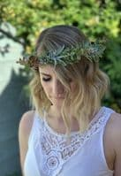 Amber Artificial Blush Floral Adult  Hair Crown